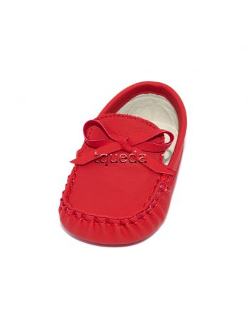Mocasines color rojo para bebe nino