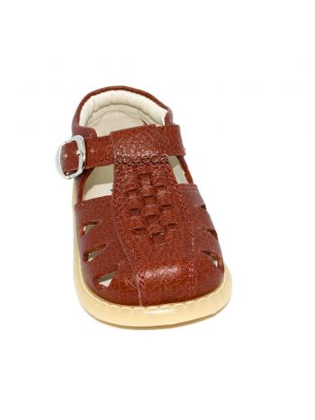 Sandalia-para-nino-en-cuero-color-marron
