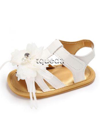 Sandalia para bebe color blanco