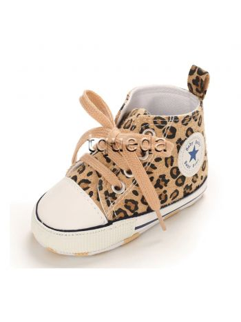 Zapatillas animal print para bebe nina