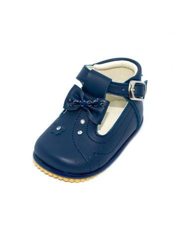 Zapato para bebe nina color azul
