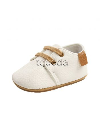 Mocasin para bebe nino color blanco