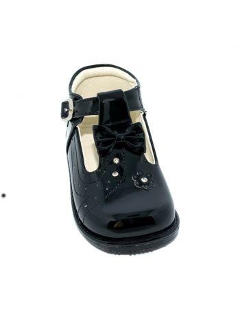 Zapatos para nina de charol con planta pibe color negro